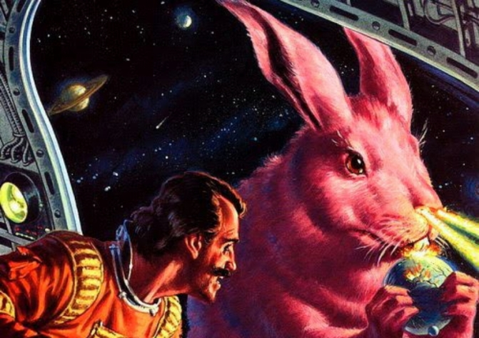 Giant Pink Space Wabbit