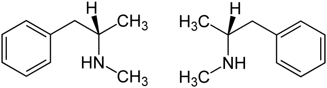 Methamphetamine_structural_formulae