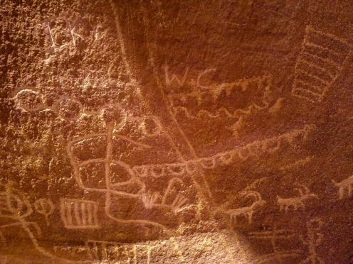 Petroglyphs and modern gaffiti
