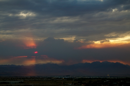 Sunset Through Mt. Charleston Fire