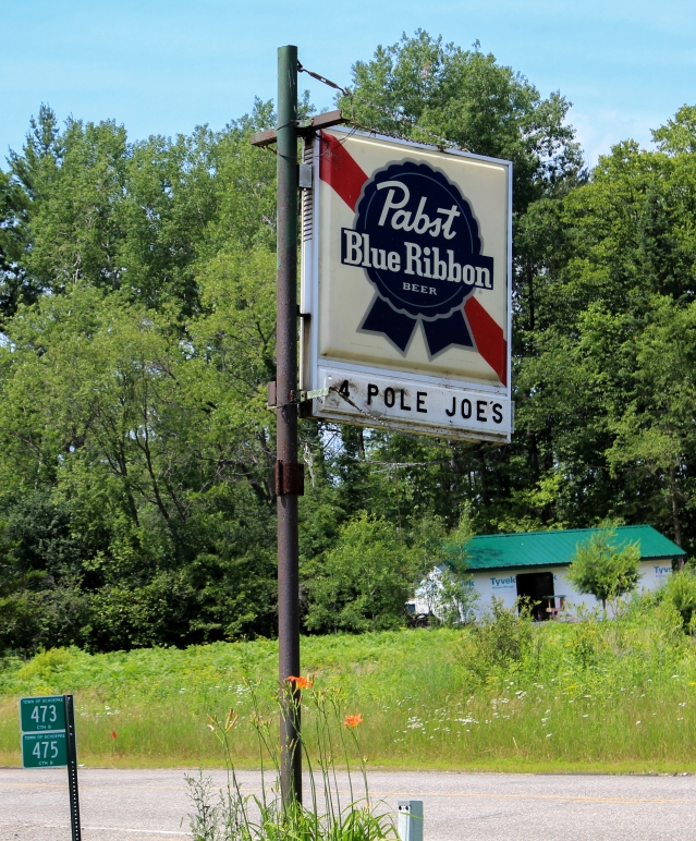 Nope, no hipsters. PBR Signs are everywhere in Wisconsin