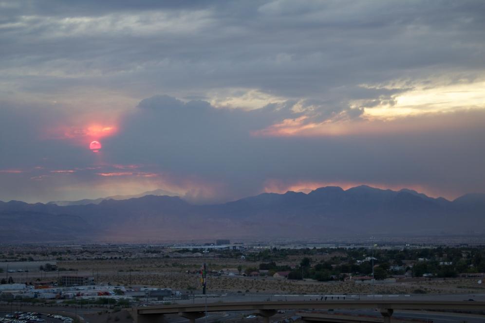 Mountain Fire Sunset