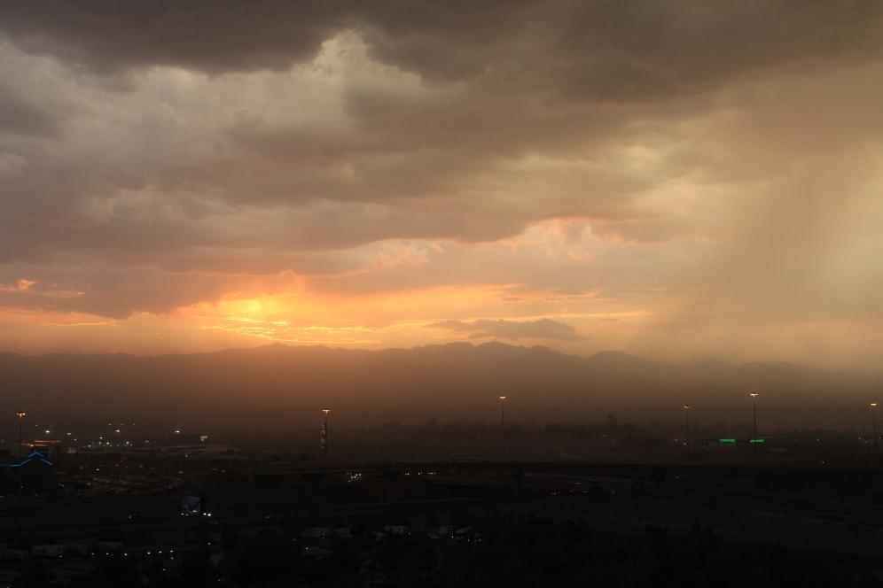 Dust Storm Sunset
